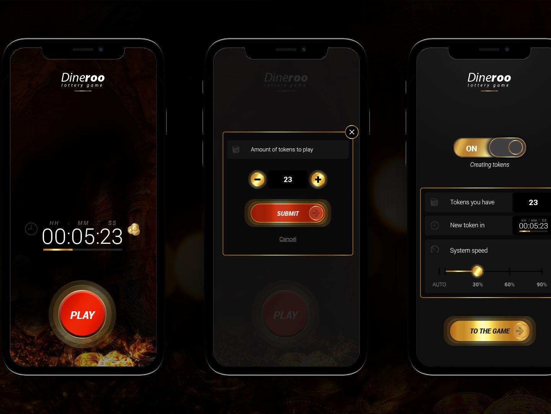 Mobile app design UI עיצוב ממשק משתמש לאפליקציית מובייל Dineroo
