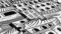 Vector line illustration closeup X1 תקריב איור קווים ווקטורי