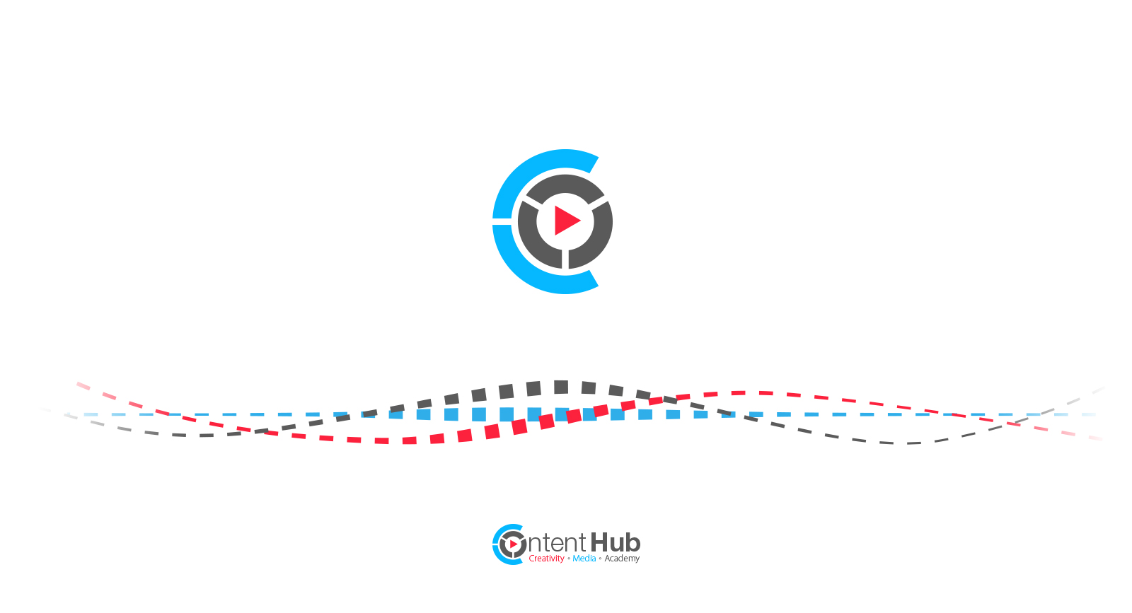 Logo amd brand content hub Herzeliya מיתוג ולוגו חממת התוכן הבינתחומי הרצליה