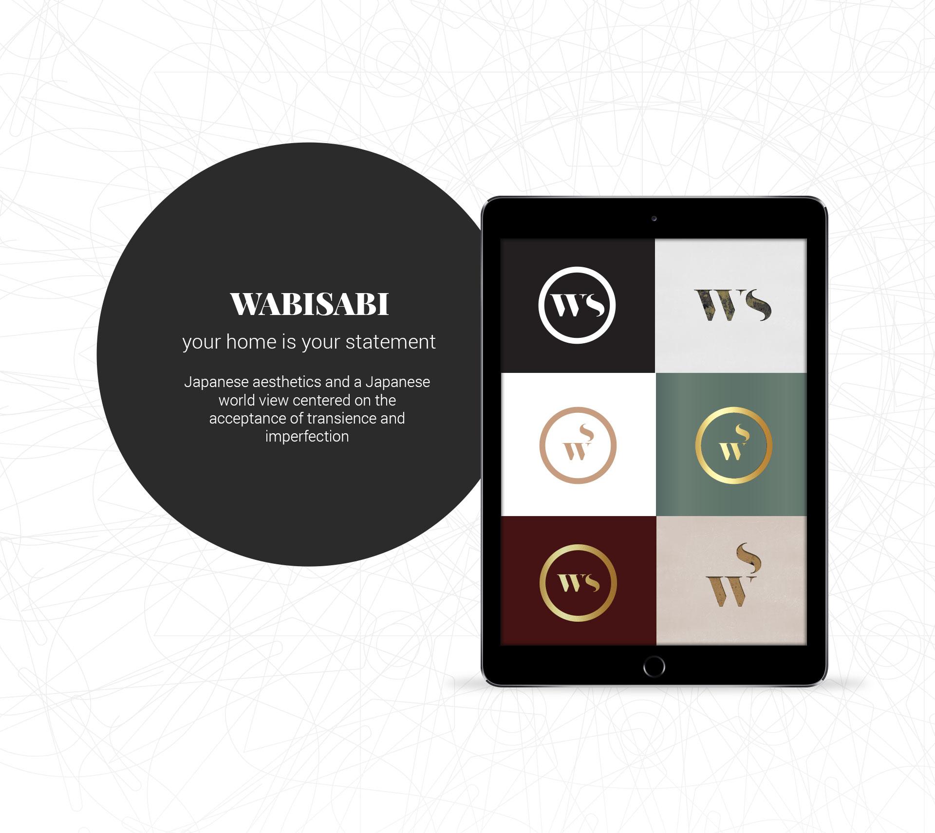 Branding logo versions interior design מיתוג גרסאות לוגו מעצבת פנים Wabi Sabi