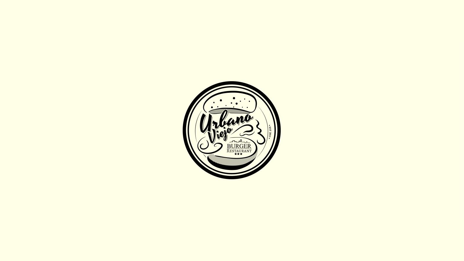 Logo design burger bar עיצוב לוגו בר בורגר
