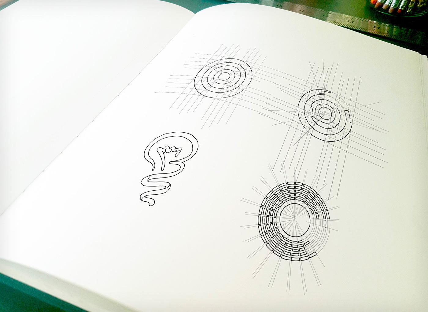 Startup logo sketches pencil סקיצות לוגו סטארטאפ עיפרון brightinfo