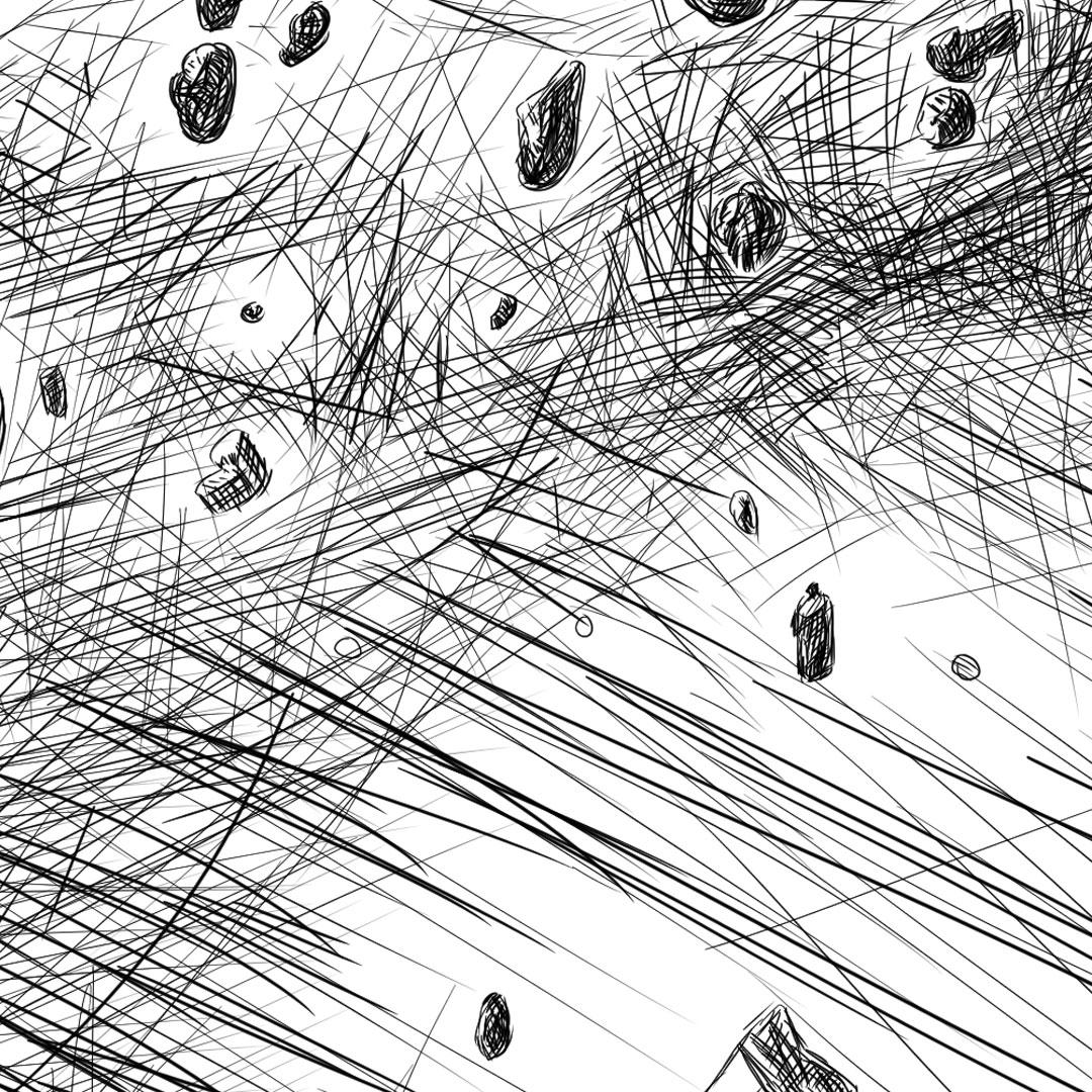MajorTom - Astronaut Helmet pencil line illustration איור עיפרון דיגיטלי חלל על קסדת אסטרונאוט closeup32