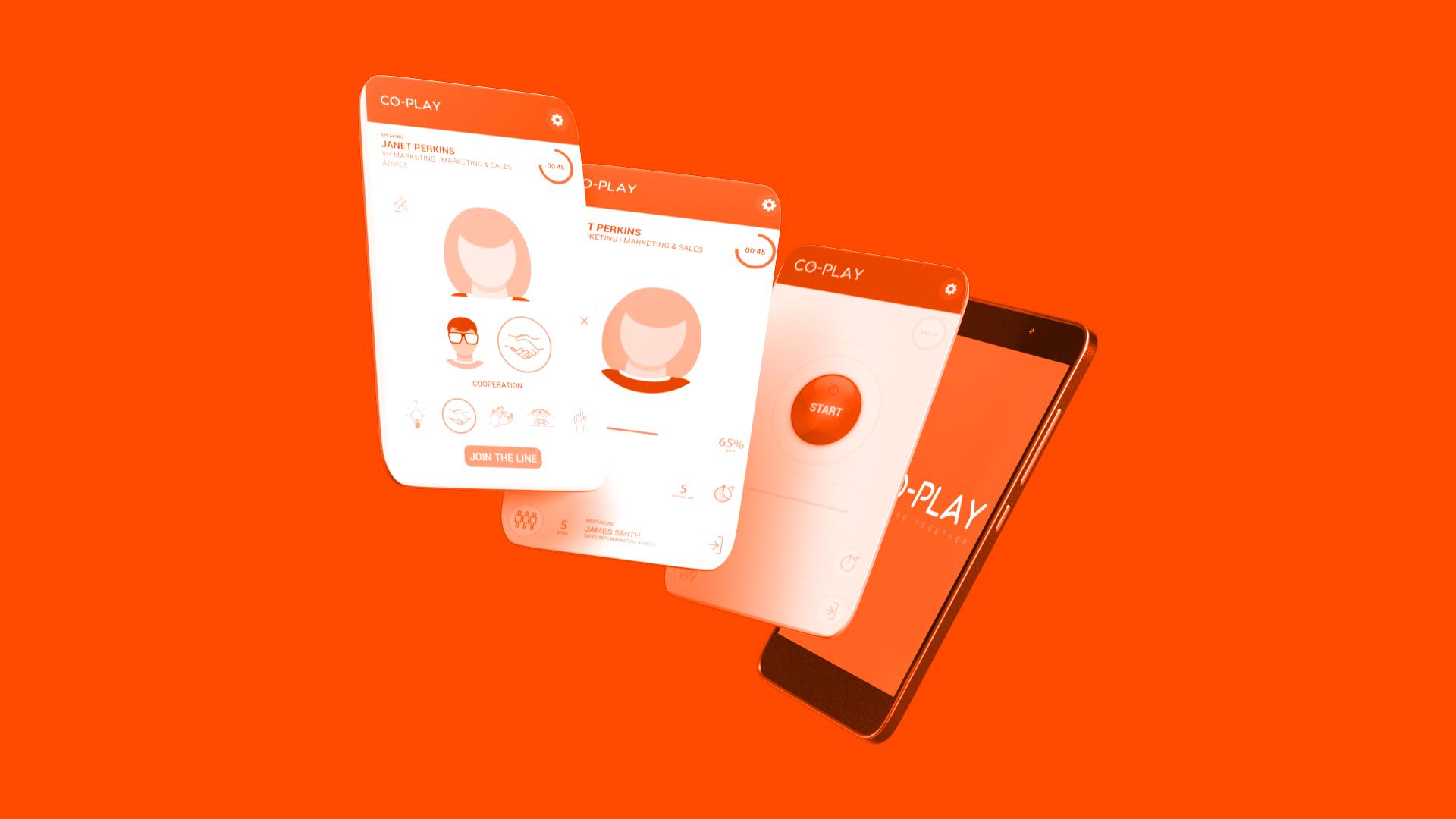 App design UI startup עיצוב אפליקציה עיצוב ממשק משתמש co-play