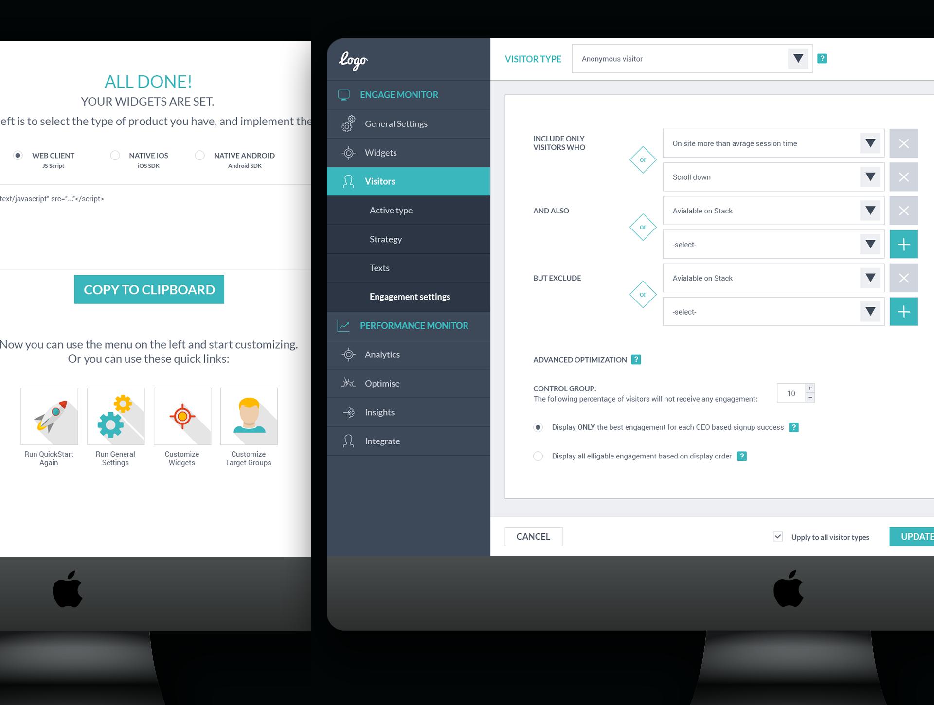 Startup webapp UI UX settings screen עיצוב ממשק משתמש ואייקונים אפליקציה סטארטאפ