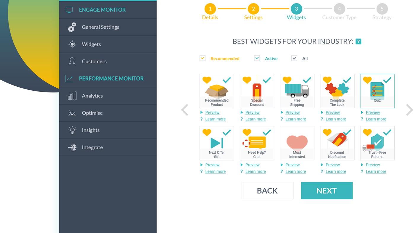 Startup webapp UI UX and icons design עיצוב ממשק משתמש ואייקונים אפליקציה סטארטאפ