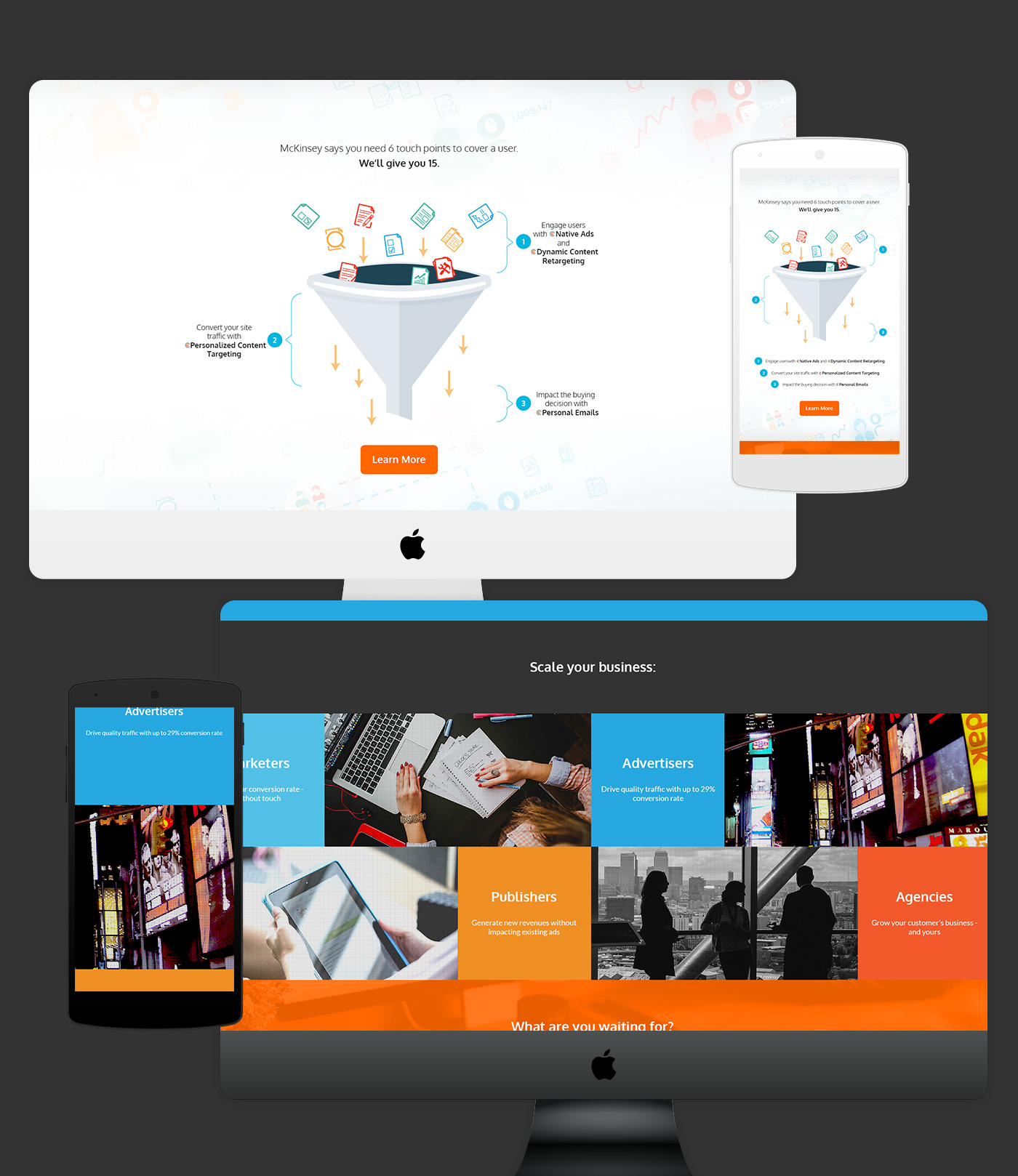 Web design startup עיצוב אתר סטארטאפ brightinfo