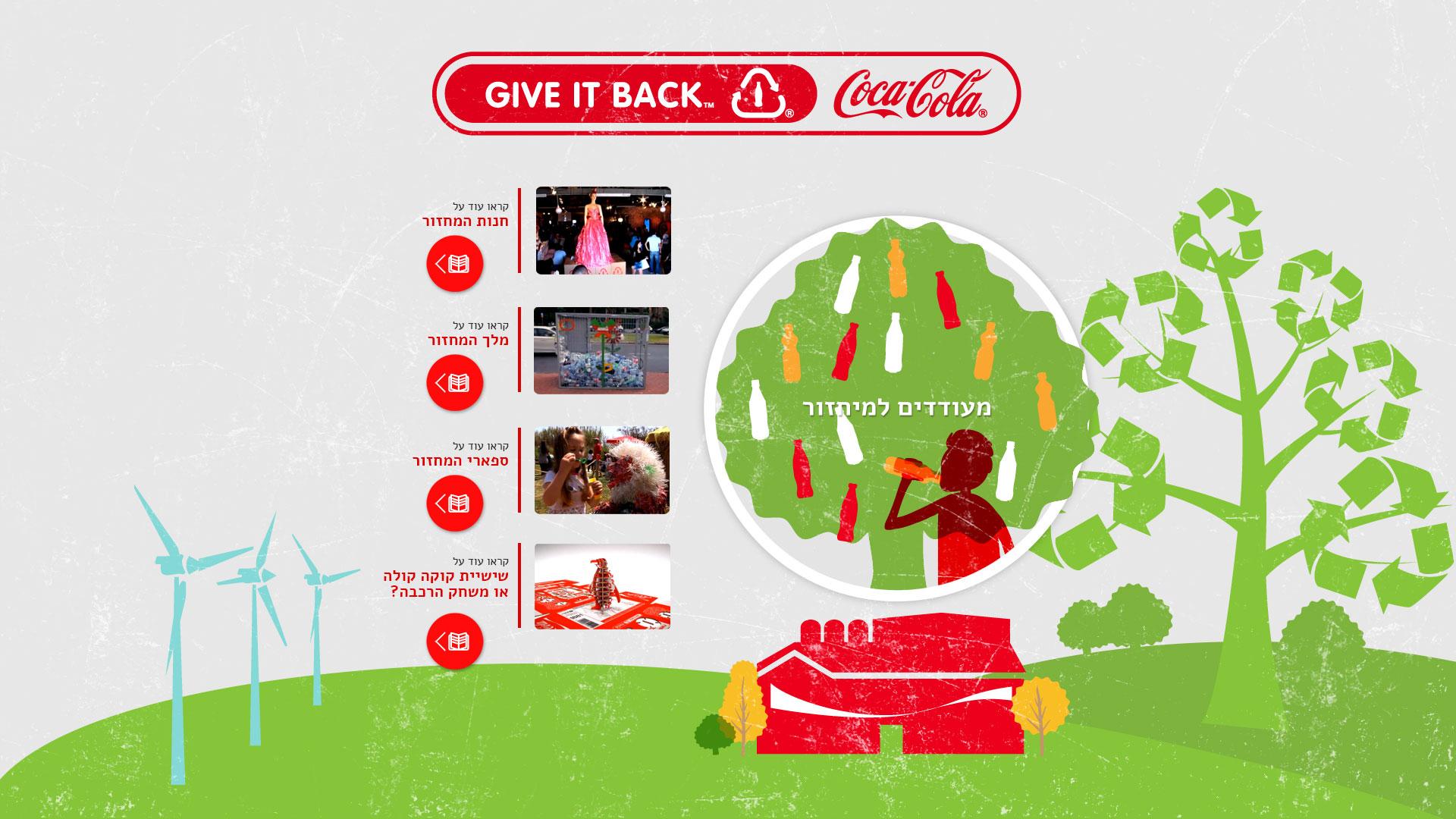 Coca Cola social responsibility website design קוקה קולה עיצוב אתר אחריות חברתית 6