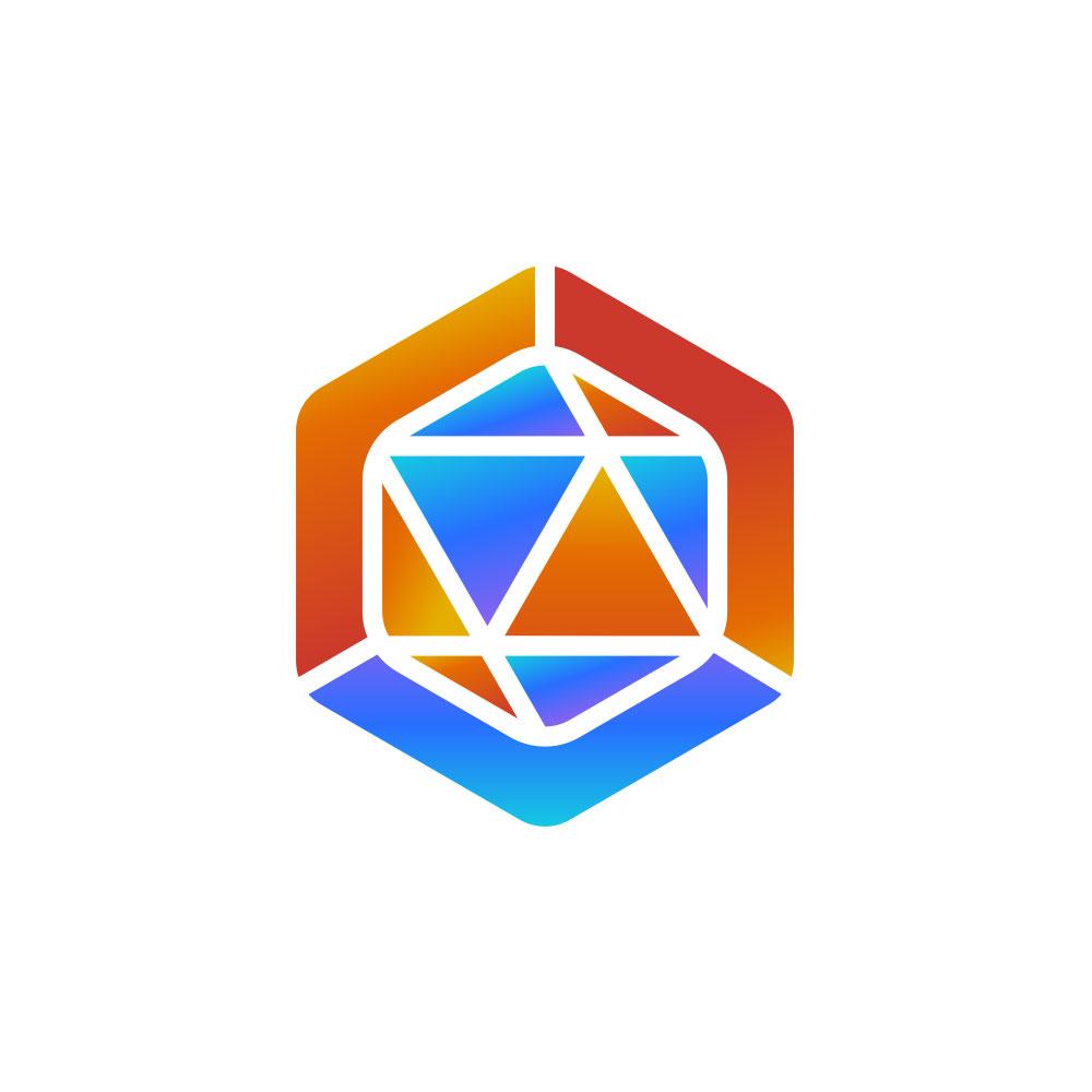 Polygon logo design crypto currency עיצוב לוגו ויצירת מותג מטבע קריפטוגרפי CrocodileBits
