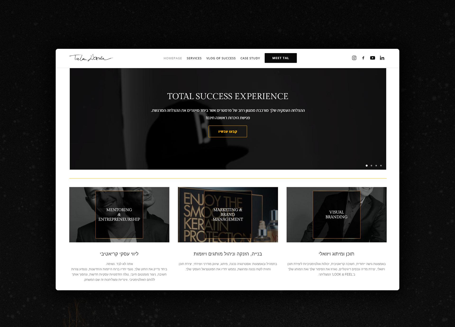 Webdesign entrepreneur עיצוב אינטרנט יזם TalouLoren