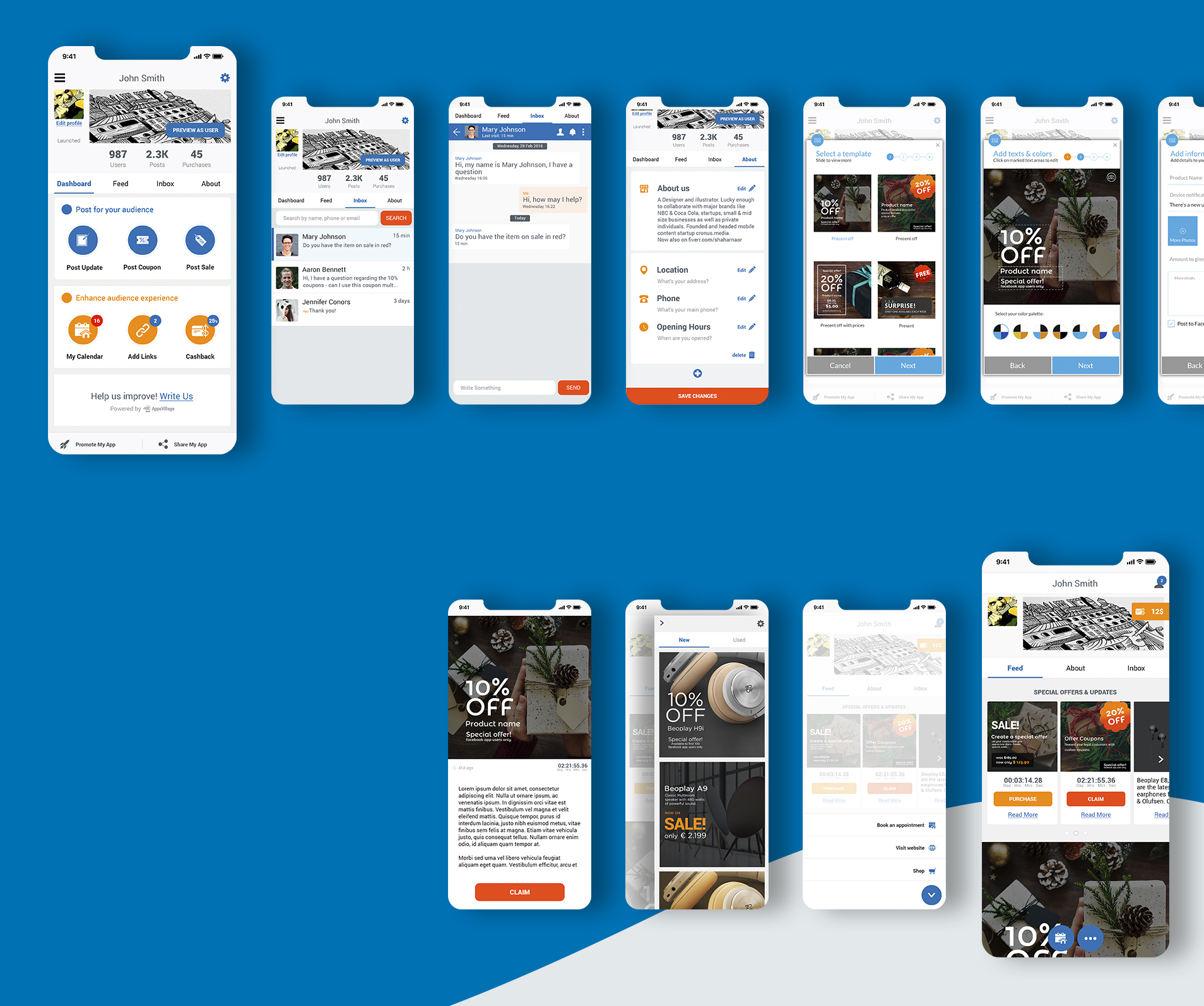 UI UX mobile screens עיצוב מובייל appsvillage