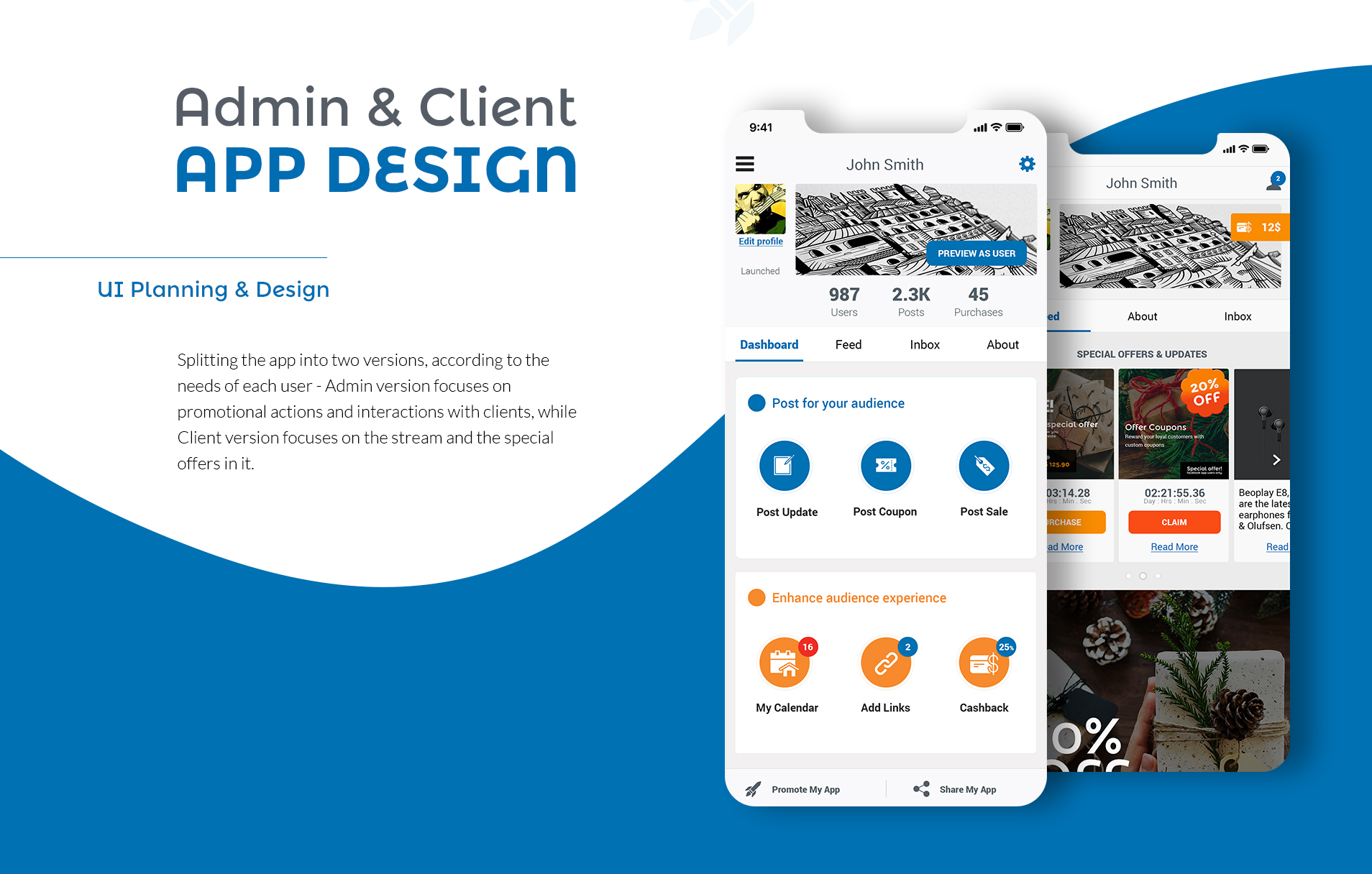 mobile app design עיצוב אפליקציית מובייל appsvillage