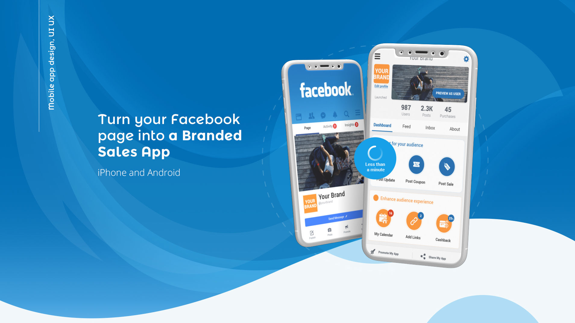 UI UX facebook to app עיצוב אפליקצייה ממשק משתמש appsvillage