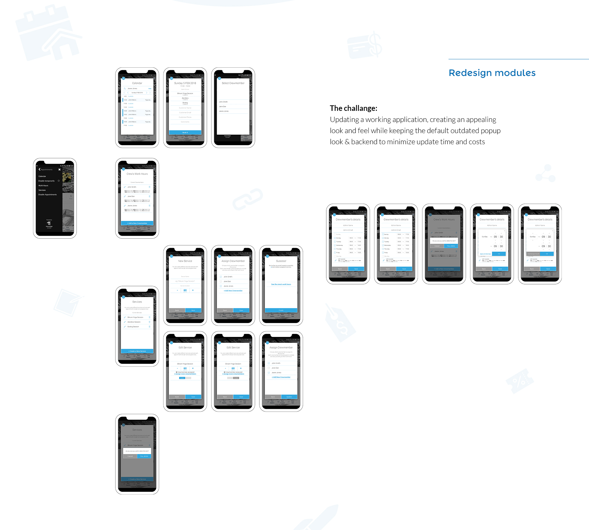 UI UX screens design עיצוב מסכי אפליקציית מובייל appsvillage