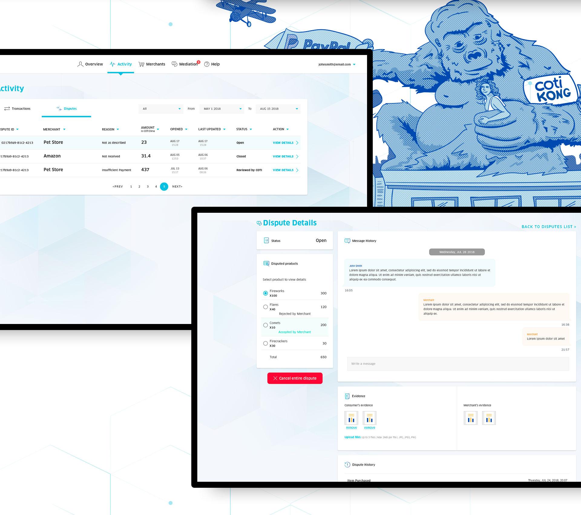 Cotipay - UI & UX for digital crypto currency payment system by COTI תכנון חוויית משתמש ועיצוב ממשק משתמש לארנק דיגיטלי קריפטו 3